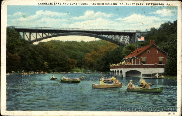 Carnegie Lake And Boat House, Panther Hollow Schenley Park Pittsburgh Pennsylvania
