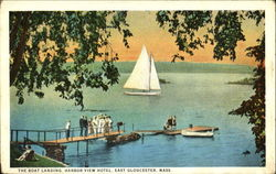 The Boat Landing Harbor View Hotel Postcard
