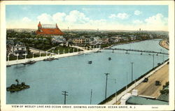 View Of Wesley Lake And Ocean Grove Showing Auditorium