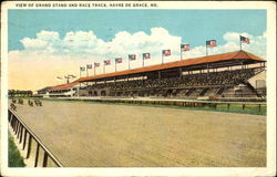 View Of Grand Stand And Race Track