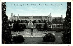 Grand Lodge From Formal Gardens, Masonic Homes