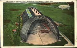 The Goodyear Zeppelin Corp's Airship Factory And Dock