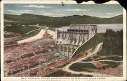 New England Power Association's Fifteen Mile Falls Plant Postcard