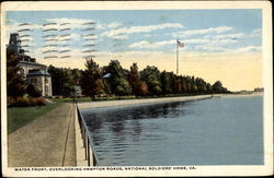 Water Front Overlooking Hampton Roads Postcard