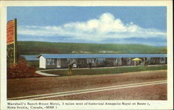 Marshall's Ranch House Motel Postcard