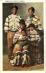 Seminole Indian Family