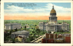 Bird's Eye View Of State Capitol