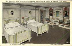 Old Dominion Line New Steamers George Washington & Robert E. Lee De Luxe Room