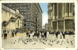 Feeding The Pigeons On City Hall Plaza