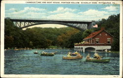 Carnegie Lake And Boat House, Panther Hollow Schenley Park
