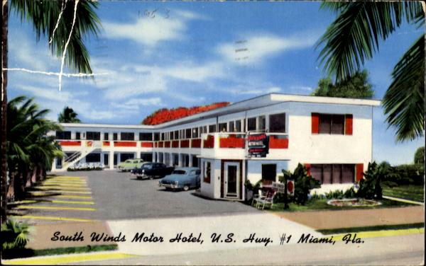 South Winds Motor Hotel, U. S. Hwy. #1636 Brickell Ave Miami Florida