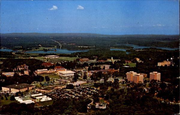 Aerial View Of Clemson University Campus South Carolina