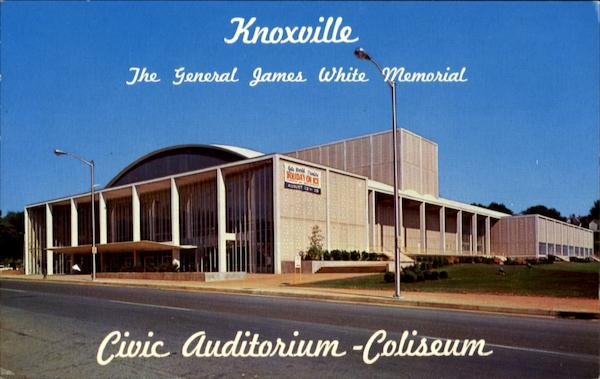The General James White Memorial Civic Auditorium - Coliseum Knoxville Tennessee