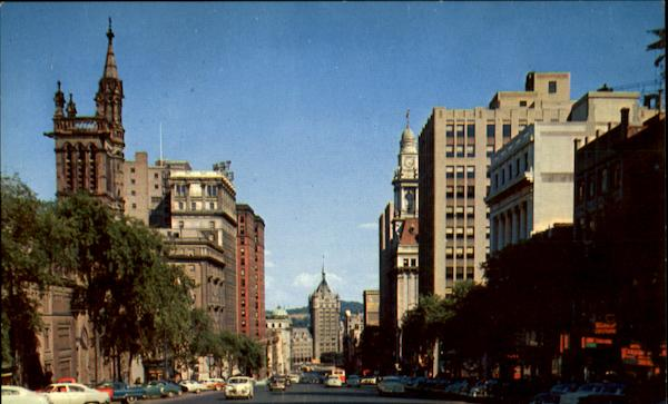 View Down State Street Albany New York