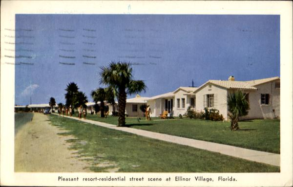 Pleasant Resort Residential Street Scene At Ellinor Village Florida