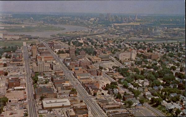 Aerial View Of Downtown Area Of Kansas City