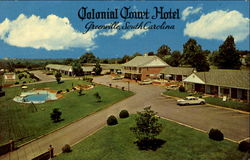Colonial Court Hotel, U. S. 29 North Wade Hampton Blvd Postcard
