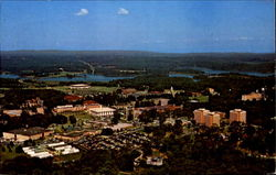Aerial View Of Clemson University Campus Postcard