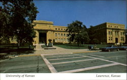 Strong Hall, University of Kansas Postcard