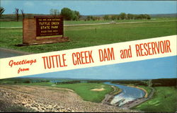 Greetings From Tuttle Creek Dam And Reservoir
