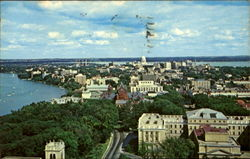 Fabulous Madison In Wonderful Wisconsin, University of Wisconsin Postcard