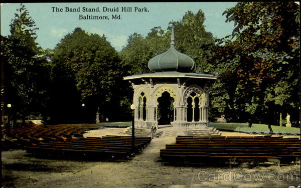 The band stand druid hill park baltimore maryland