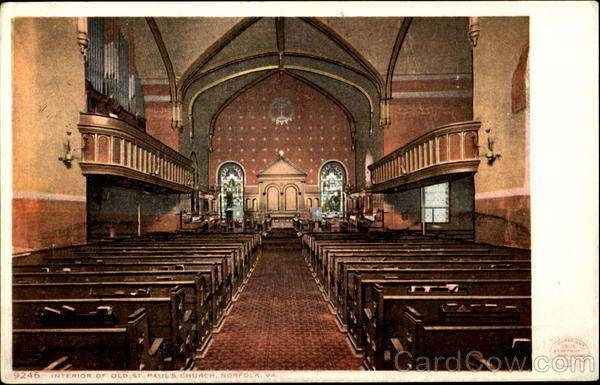 Interior Of Old St. Paul's Church Norfolk Virginia