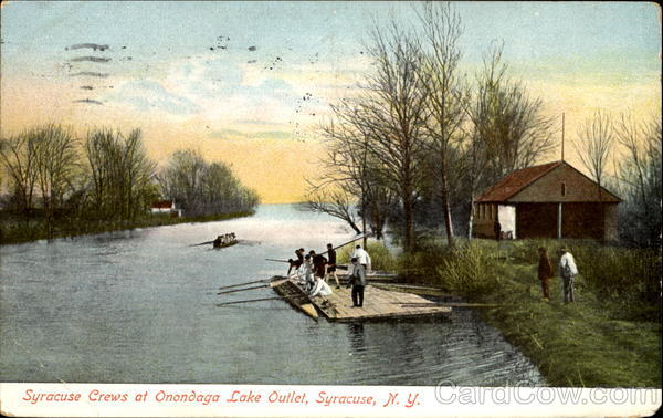 Syracuse Crews At Onondaga Lake Outlet New York