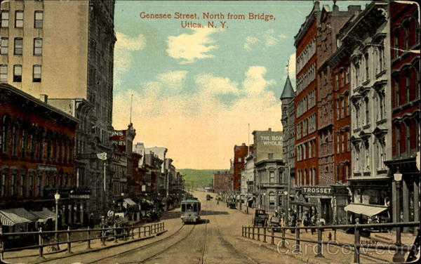 Genesee Street North From Bridge Utica New York
