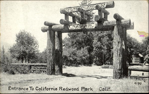 Entrance To California Redwood Park
