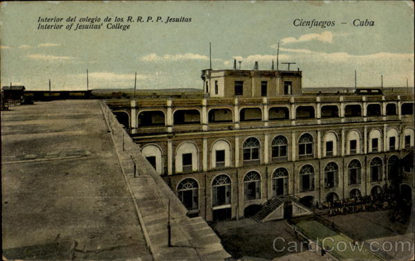 Interior Of Jesuitas College Cienfuegos Cuba Caribbean Islands