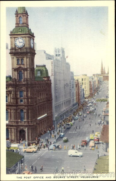 The Post Office And Bourke Street Melbourne Australia