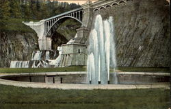 Fountain in front of Croton Dam