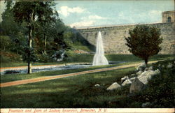Fountain And Dam At Sodom Reservoir