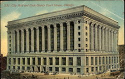 City Hall And Cook County Court House Postcard
