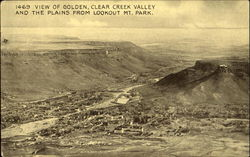 View Of Golden Clear Creek Valley And The Plains From Lookout Mt. Park