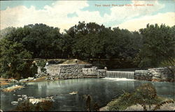 Twin Island Park And Dam Postcard