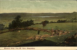 Warwick Valley From Mt. Peter Observatory Postcard