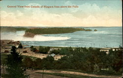 General View From Canada Of Niagara From Above The Falls