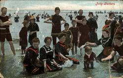 Jolly Bathers Postcard