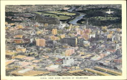 Aerial View Over Section Of Melbourne Postcard