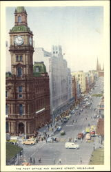 The Post Office And Bourke Street Postcard