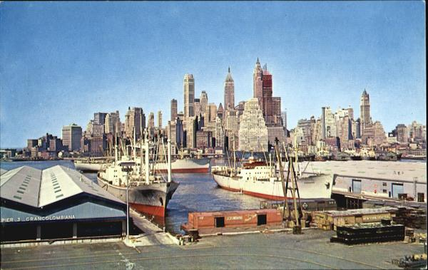 Skyline Of Lower Manhattan New York City