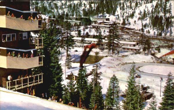 A Panoramic View Of Squaw Valley California