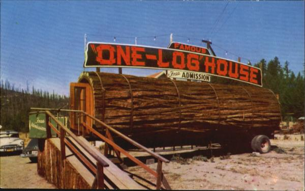 Famous One Log House California