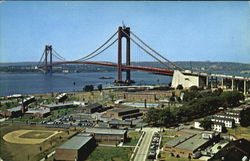 A Panoramic View Of The Verrazano-Narrows Bridge