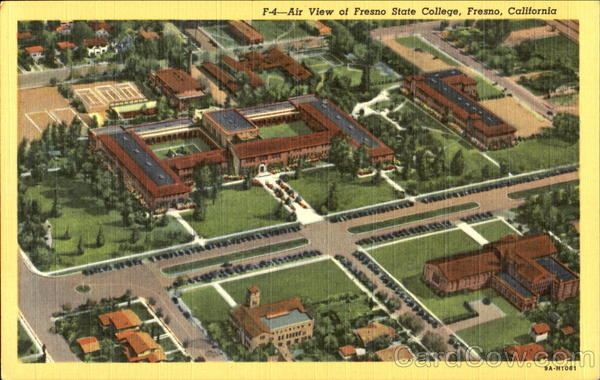 Air View Of Fresno State College California