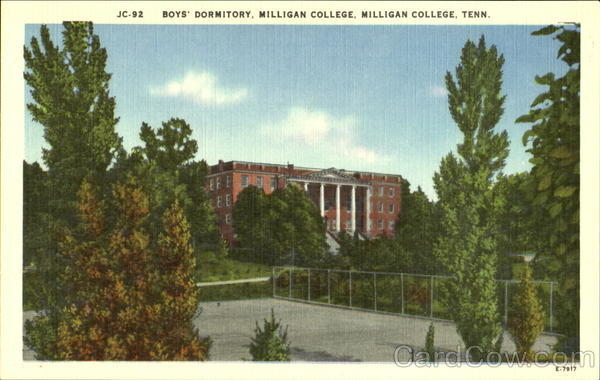 Boys Dormitory Milligan College, Milligan College Tennessee