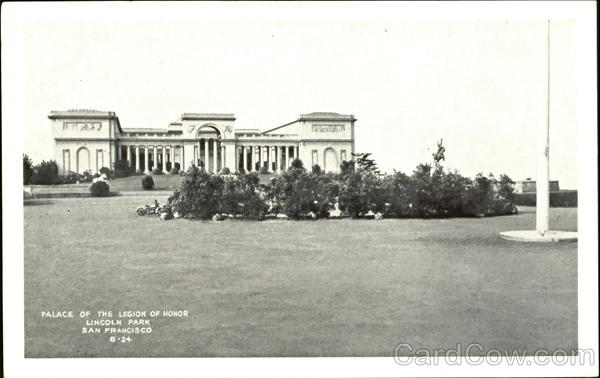 Palace Of The Legion Of Honor, Lincoln park San Francisco California