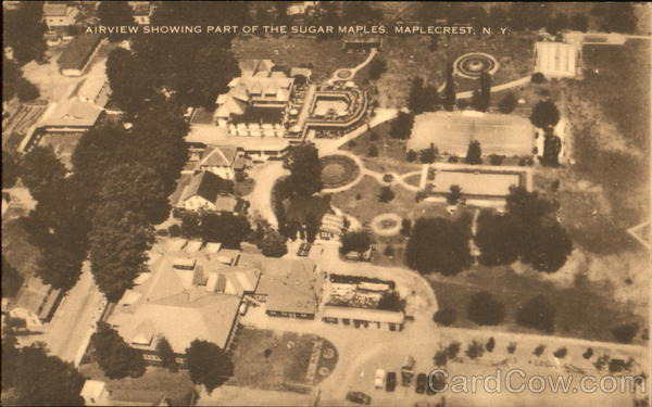 Airview Showing Part Of The Sugar Maples Maplecrest New York
